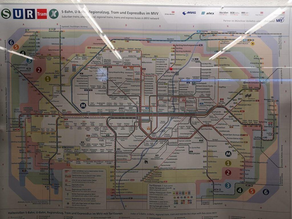 ミュンヘンの鉄道マップ