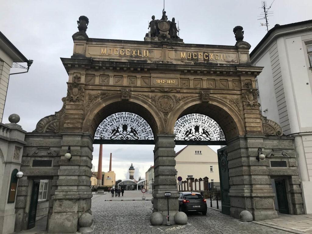 Plzensky Prazdrojの正門