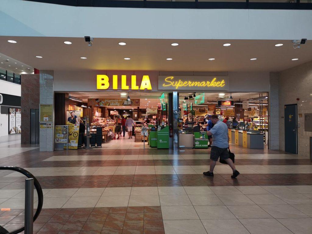 プラハ空港のBILLA