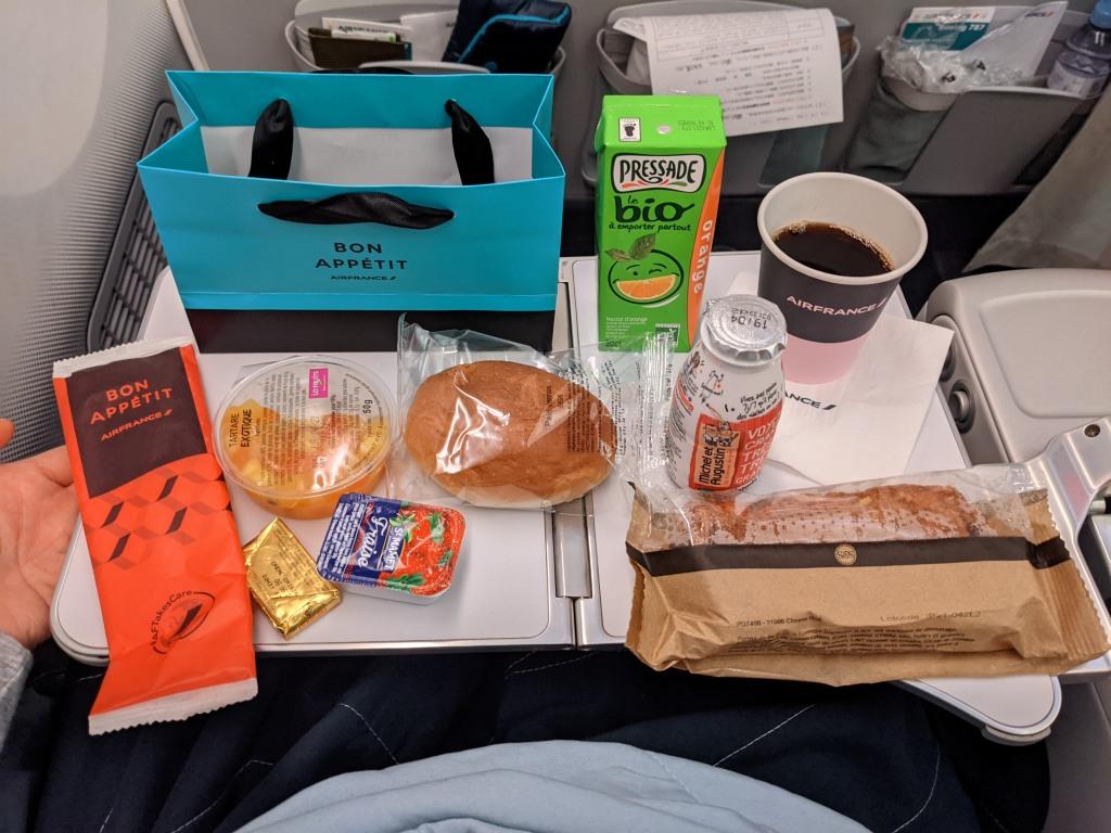 AF292-機内食-軽食